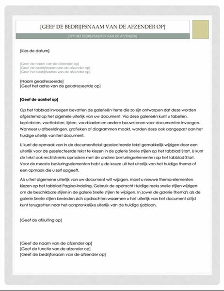 Brief (ontwerp Apotheker)