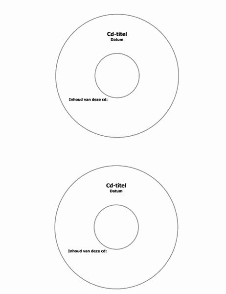 Labels voor cd (geschikt voor Avery 5824)