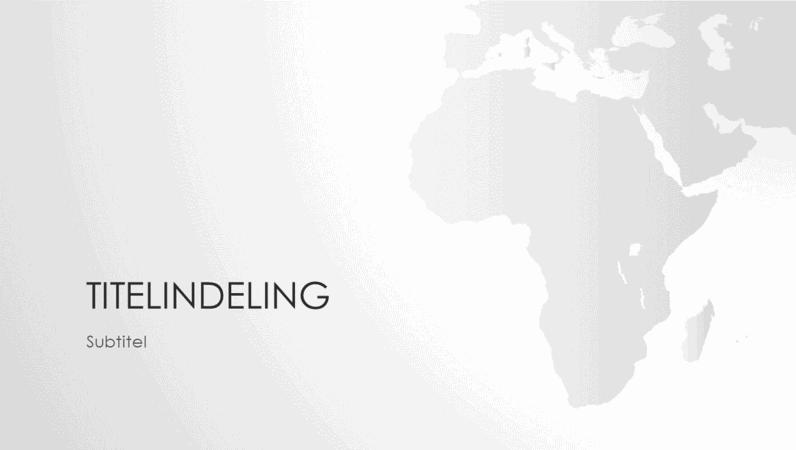 Presentatie wereldkaartserie, Afrika (breedbeeld)