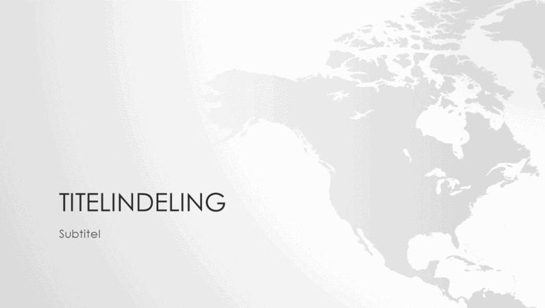 Presentatie wereldkaartserie, Noord-Amerikaans continent (breedbeeld)