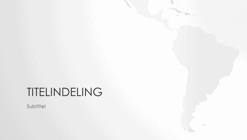 Presentatie wereldkaartserie, Zuid-Amerika (breedbeeld)