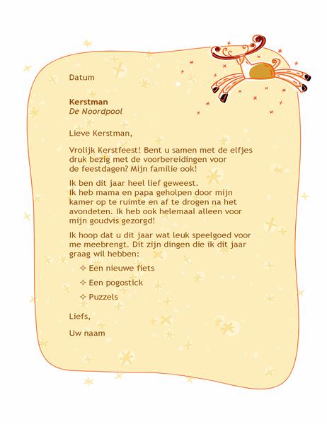 Brief voor de kerstman