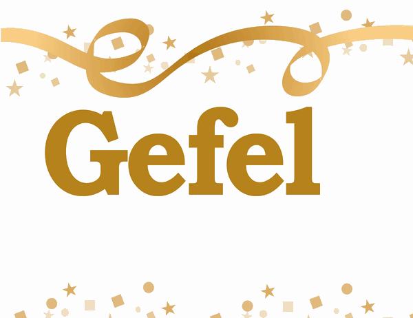 Banner Gefeliciteerd, (naam)