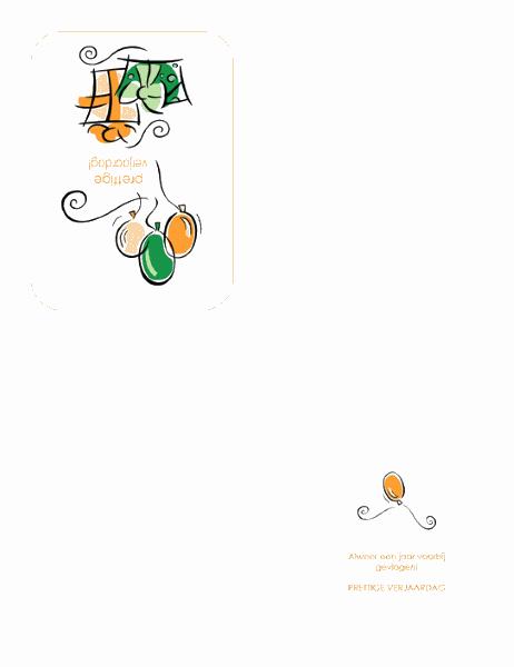 Verjaardagskaart (met ballonnen)