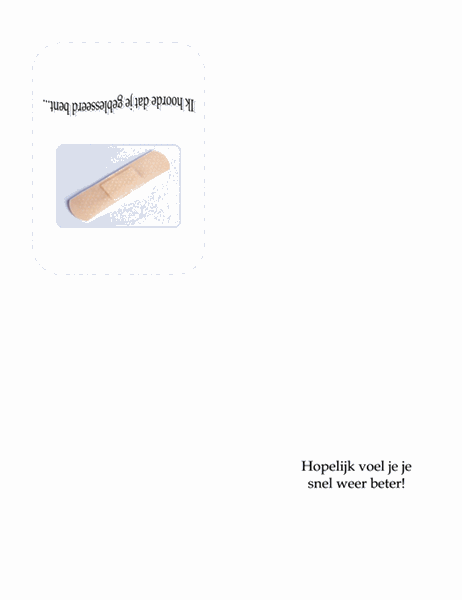 Beterschapskaart (met verband)