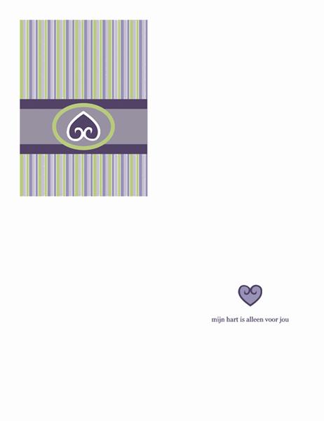 Liefde (paars ontwerp)
