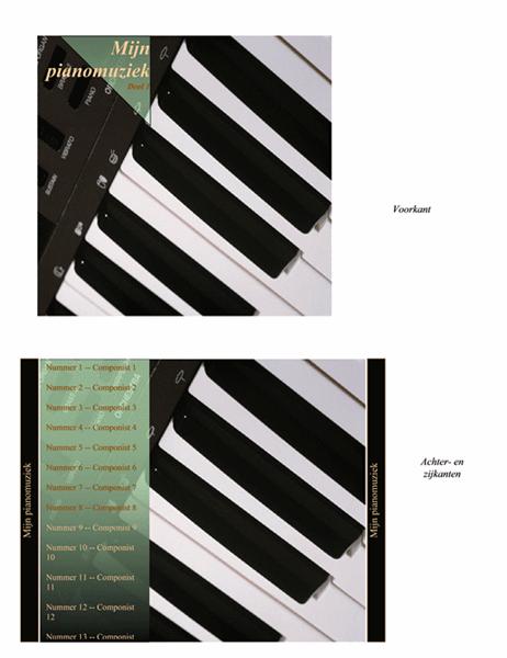Inlegvel voor cd-doosje (ontwerp voor pianomuziek)