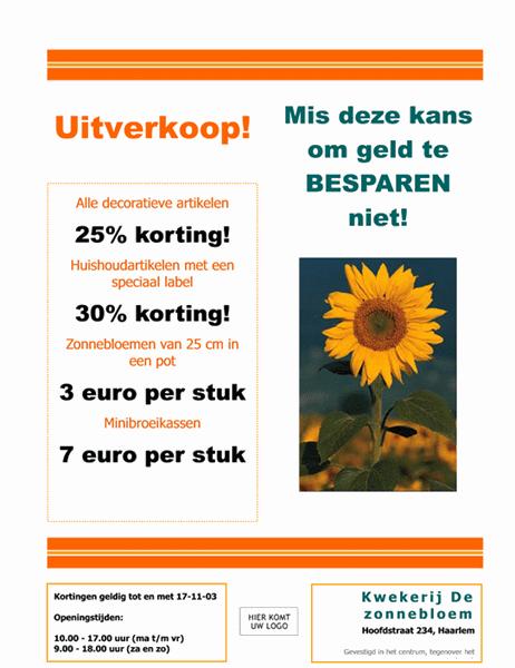 Folder voor tuincentrum en kwekerij