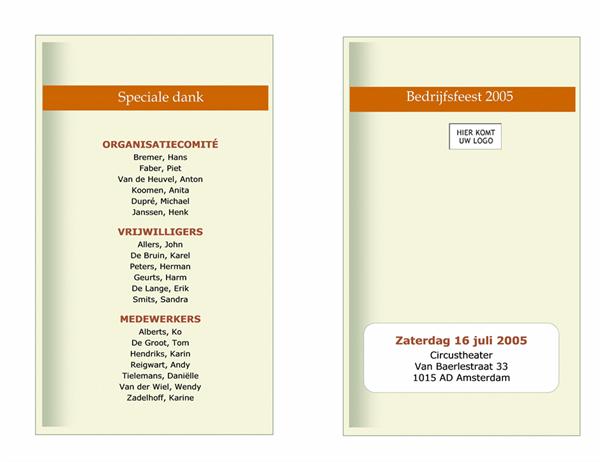 Programma voor zakelijk evenement