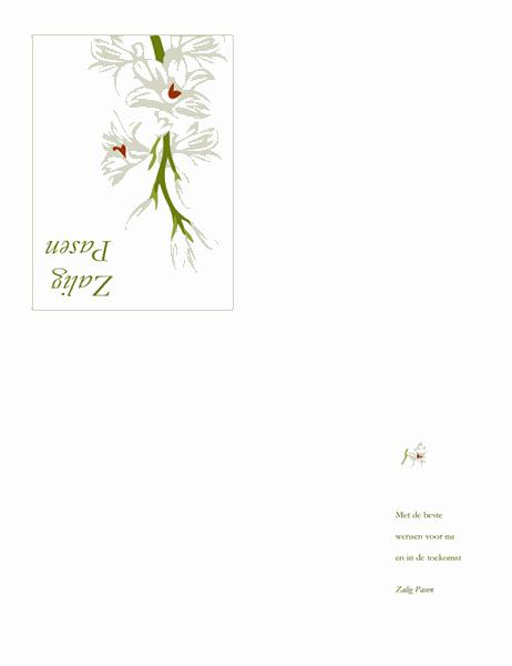Paaskaart (met bloemen)