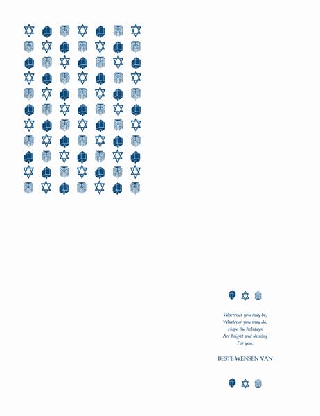 Chanoeka-kaart van bedrijf