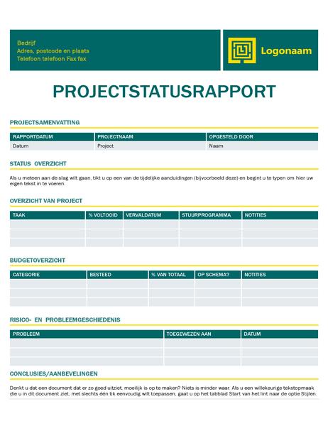 Projectstatusrapport (Tijdloos ontwerp)