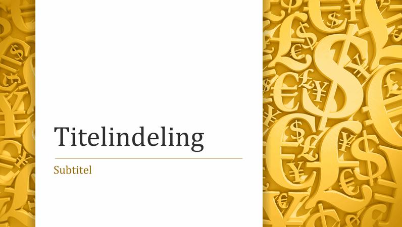 Presentatie met valutasymbolen (breedbeeld)