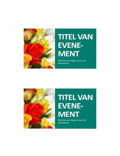 Briefkaart voor aankondiging van evenement