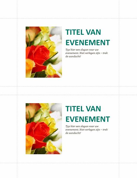 Briefkaarten voor bedrijfsevenement (2 per pagina)