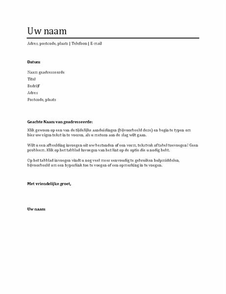 Begeleidende brief