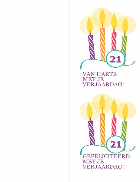 Verjaardagskaarten voor speciale verjaardagen (2 per pagina voor Avery 8315)