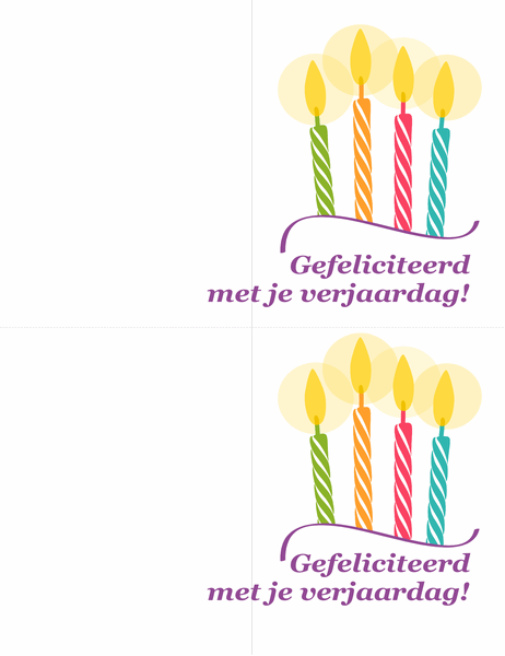 Verjaardagskaarten (2 per pagina)