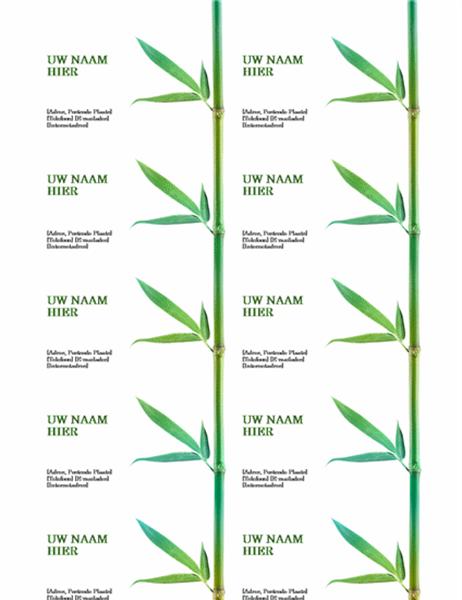 Visitekaartjes (bamboe)