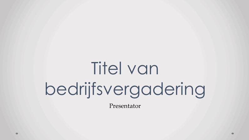 Presentatie voor bedrijfsvergadering