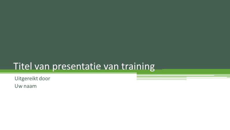 Presentatie van training