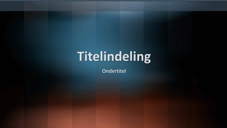 Diaontwerp met verticale woordenlijst