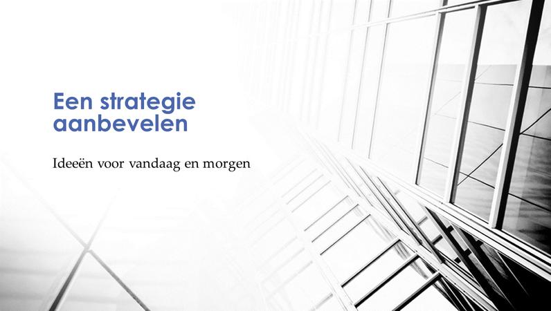 Presentatie van bedrijfsstrategie