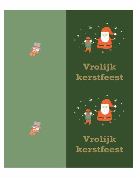 Kerstkaarten (ontwerp Kerstgedachte, 2 per pagina, voor Avery-papier)