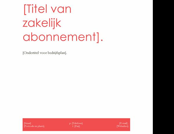 Ondernemingsplan (rood ontwerp)