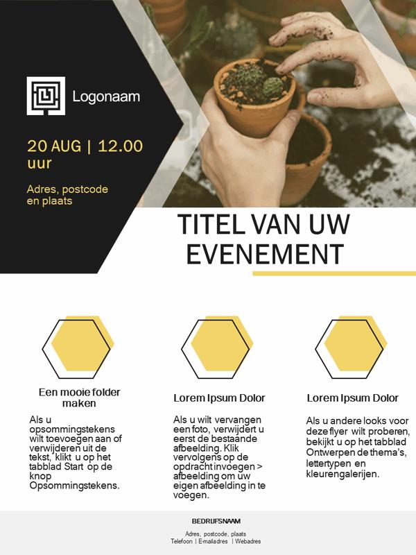 Flyer voor kleine bedrijven (gouden ontwerp)