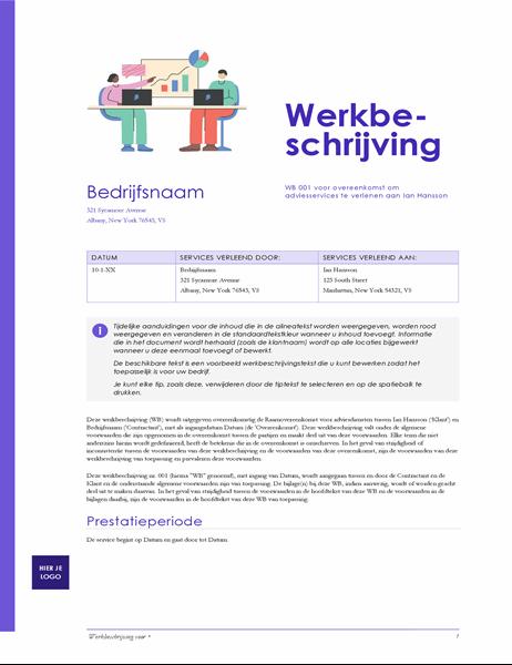 Werkbeschrijving (rood design)