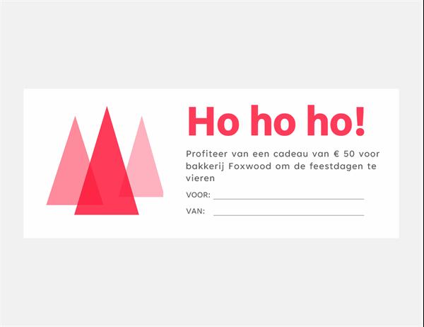 Geschenkbonnen voor de feestdagen (tien per pagina)