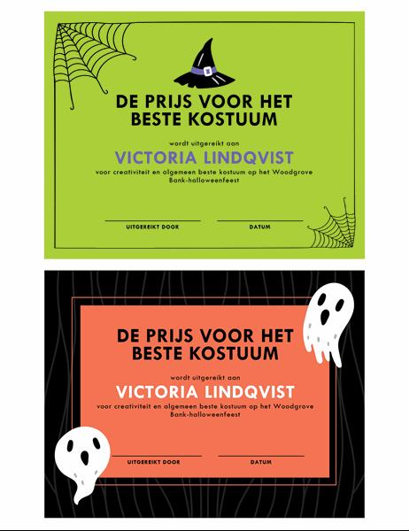 Prijs voor halloweenkostuum