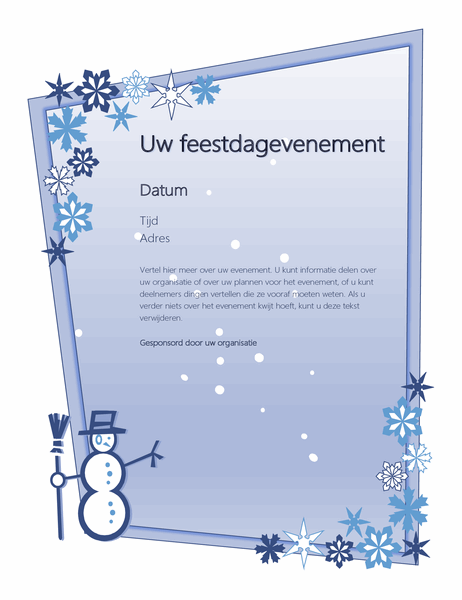 Folder feestdagevenement in de winter