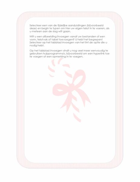 Briefpapier voor de feestdagen (met een zuurstok als watermerk)