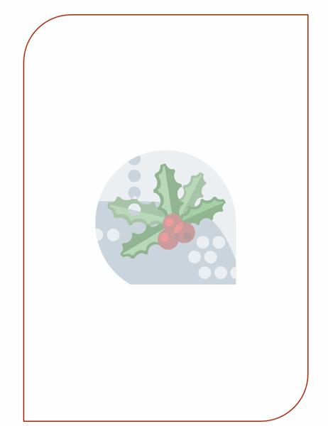 Briefpapier voor de feestdagen (met een hulstblad als watermerk)