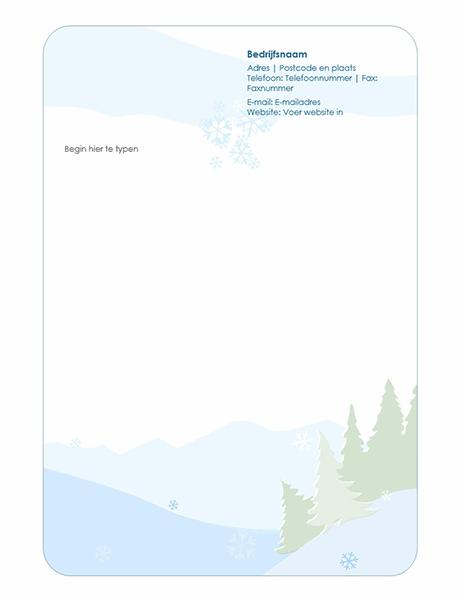 Briefhoofd voor winters briefpapier
