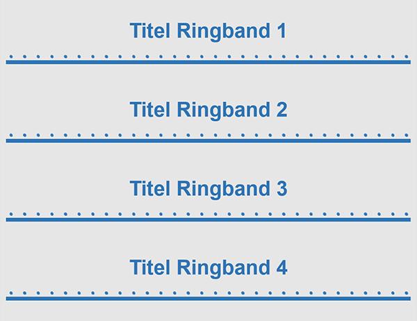 """2"""" ringbandtabbladen (4 per pagina)"""