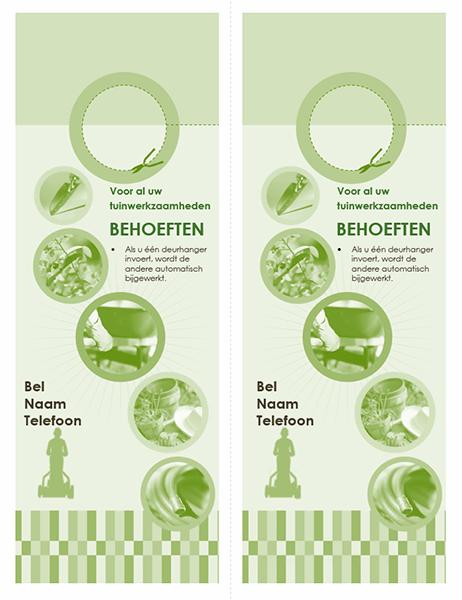 Deurhanger voor tuinbedrijf (2 per pagina)