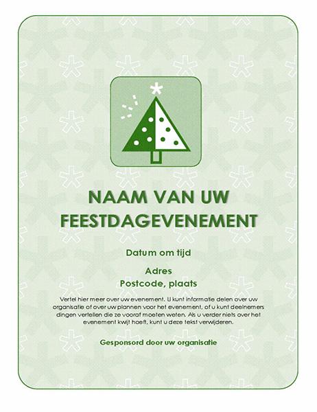 Flyer voor feestdagevenement (met groene boom)