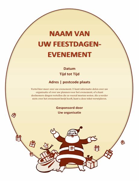 Folder voor een kerstevenement