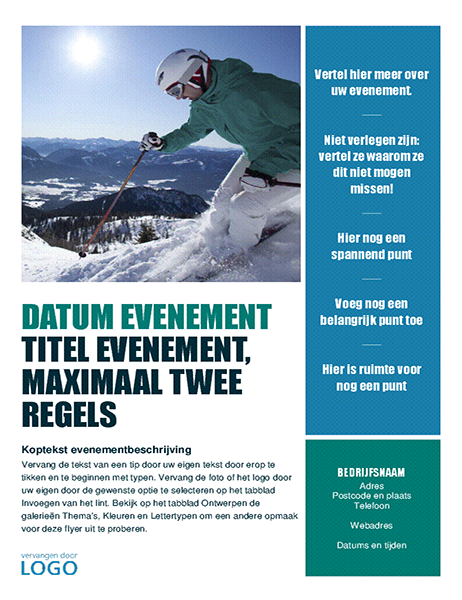 Seizoensevenementflyer (winter)