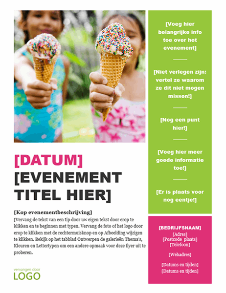 Seizoensevenementflyer