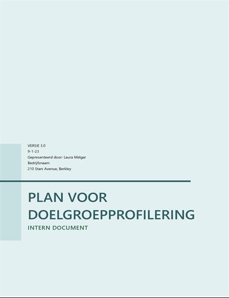 Plan voor doelpubliekprofilering