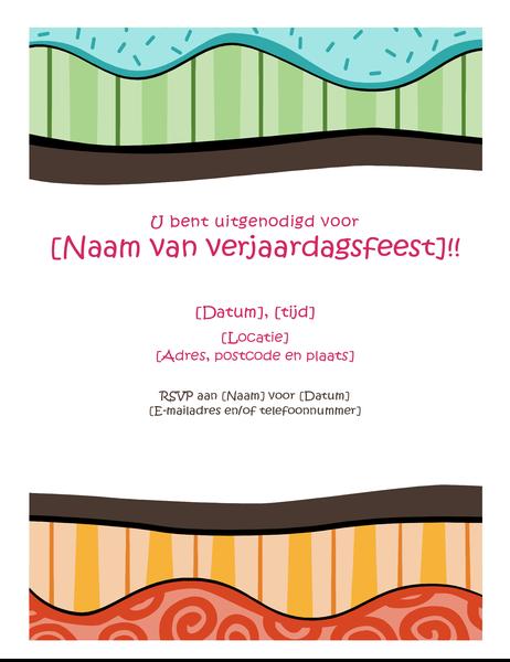 Verjaardagsfolder (fris ontwerp)