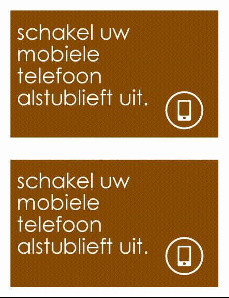 Verbodsbord voor mobiele telefoon (2 per pagina)