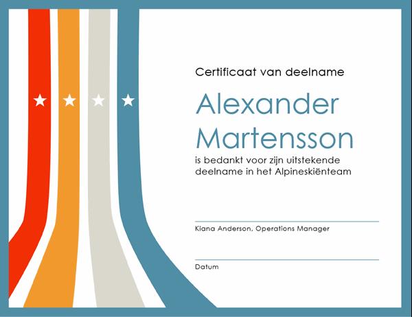 Certificaat van deelname