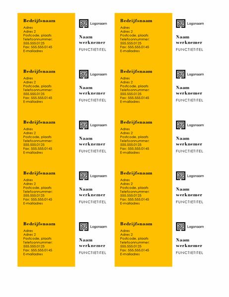 Visitekaartjes (balken ontwerp, 10 per pagina)