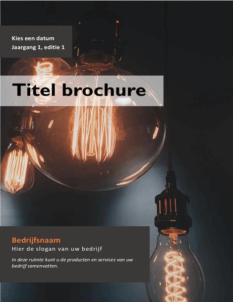 Boekje met product-of service-advertentie