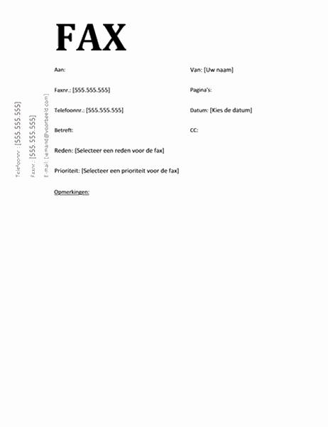 Faxvoorblad (academisch ontwerp)